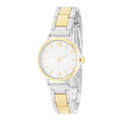 Kristiana Two-tone Ladylike Metal Watch (pack of 1 ea)