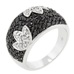 Black And White Cocktail Ring (size: 10) (pack of 1 ea)
