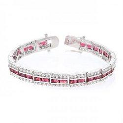 Balboa Red Cz Bracelet (pack of 1 ea)