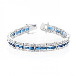 Balboa Blue Cz Bracelet (pack of 1 ea)