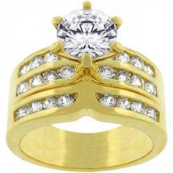 Formal Goldtone Engagement Set (size: 07) (pack of 1 ea)