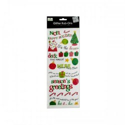 Christmas Glitter Rub-on Transfers (pack of 24)