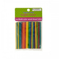 Multi-color Wood Dowel Sticks (pack of 12)