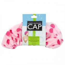 Microfiber Lined Shower Cap (pack of 8)