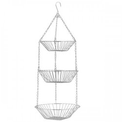 3 Tier Hanging Metal Fruit Basket (pack of 2)