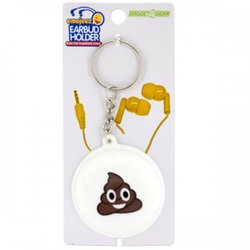 Emoticon Earbud & Cable Holder Key Chain (pack of 24)