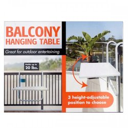 All-purpose Balcony Hanging Table (pack of 1)