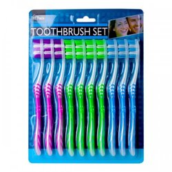 10 Pack Toothbrush Set (pack of 6)