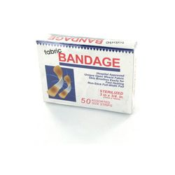 50 Pack Fabric Bandages. (pack of 24)