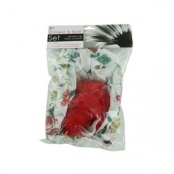 Shower Cap And Body Scrubber Set (pack of 12)