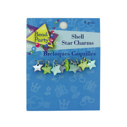 9 Pc Shell Star Charms (pack of 24)