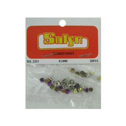 20 Pc 4 1/2mm Purple Rhinestones (pack of 24)