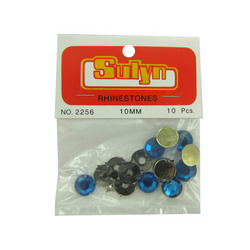 10 Pc 10mm Blue Rhinestones (pack of 24)
