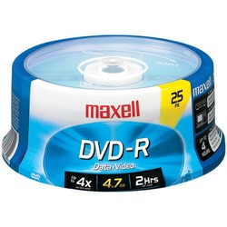 Maxell 4.7gb 120-minute Dvd-rs (25-ct Spindle) (pack of 1 Ea)