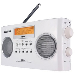 Sangean Digital Portable Stereo Receivers With Am And Fm Radio (white) (pack of 1 Ea)