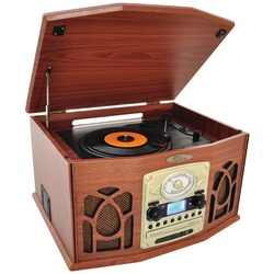 Category: Dropship Electronics, SKU #RA34134, Title: Pyle Home Bluetooth Retro Vintage Classic Style Turntable Vinyl Record Player With Vinyl-to-mp3 Recording (wood) (pack of 1 Ea)