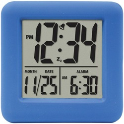 Equity By La Crosse Soft Cube Lcd Alarm Clock (blue) (pack of 1 Ea)