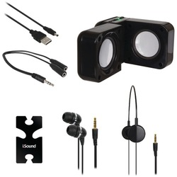 Dreamgear 5-in-1 Travel Sound Kit (black) (pack of 1 Ea)