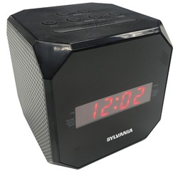 Sylvania Cube Clock Radio (pack of 1 Ea)