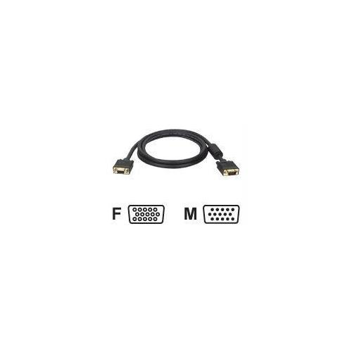 10FT VGA COAX MONITOR EXTENSION CABLE WITH RGB HIGH RESOLUTION HD15 M/F 10 FT