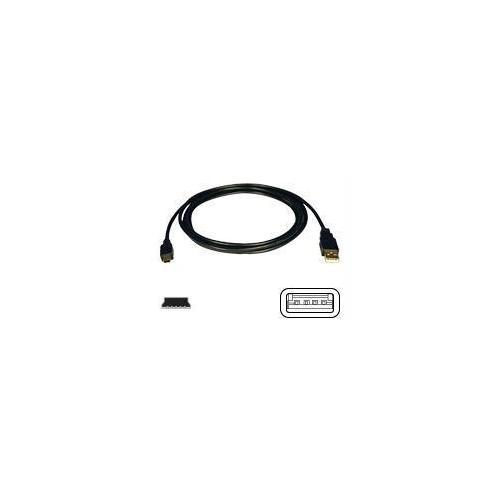 USB 2.0 HI-SPEED A TO MINI-B CABLE (A TO 5PIN MINI-B M/M) 6-FT.