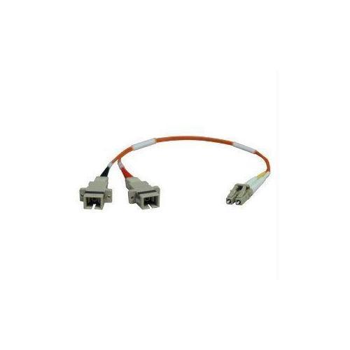 0.3M DUPLEX MULTIMODE FIBER OPTIC 50/125 ADAPTER LC/SC M/F 1FT 0.3 METER