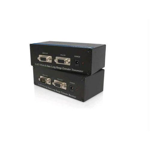 Startech Extend A Vga Video And An Rs232 Data Signal Up To 300 Meters (950 Feet) Using Ca