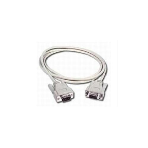 10FT DB9 M/F SERIAL RS232 EXTENSION CABLE - BEIGE