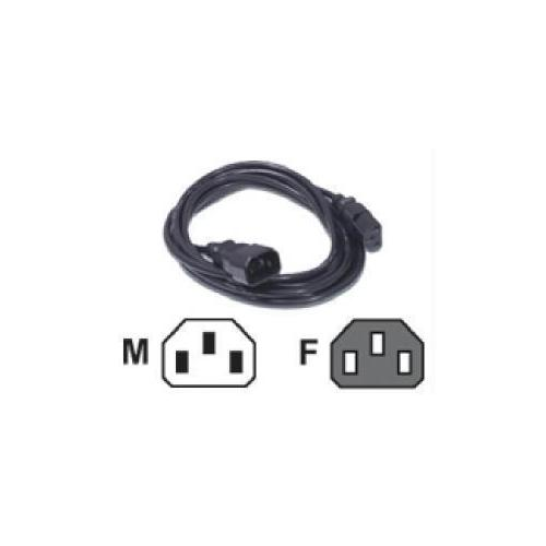 C2g 15ft 18 Awg Computer Power Extension Cord (iec320c14 To Iec320c13) (taa Complian
