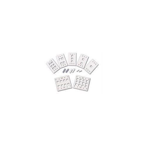 2-PORT SINGLE GANG MULTIMEDIA KEYSTONE WALL PLATE - WHITE
