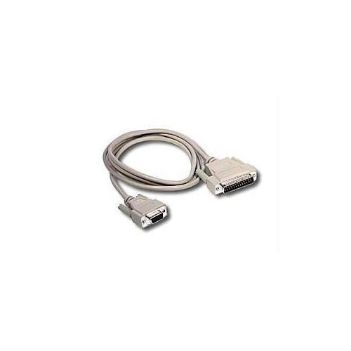 10FT DB9 FEMALE TO DB25 MALE SERIAL RS232 MODEM CABLE