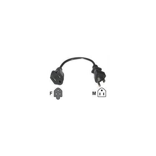 C2g 15ft 18 Awg Outlet Saver Power Extension Cord (nema 5-15p To Nema 5-15r)-pow