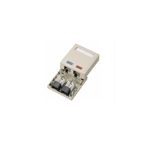 2-PORT CAT5E SURFACE MOUNT BOX - WHITE