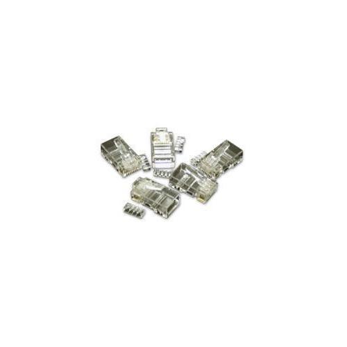 C2g Rj45 Cat5e Modular Plug (with Load Bar) For Round Solid/stranded Cable - 50pk