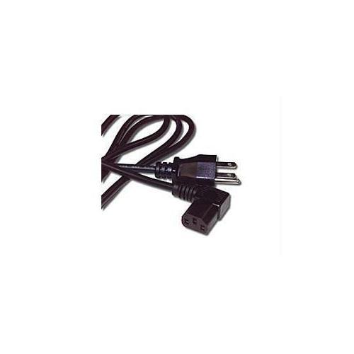 C2g 14ft 18 Awg Universal Right Angle Power Cord (nema 5-15p To Iec320c13r)