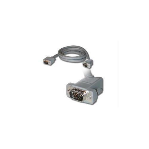 10FT PREMIUM SHIELDED HD15 SXGA M/M MONITOR CABLE WITH 45ANDDEG; ANGLED MALE CON