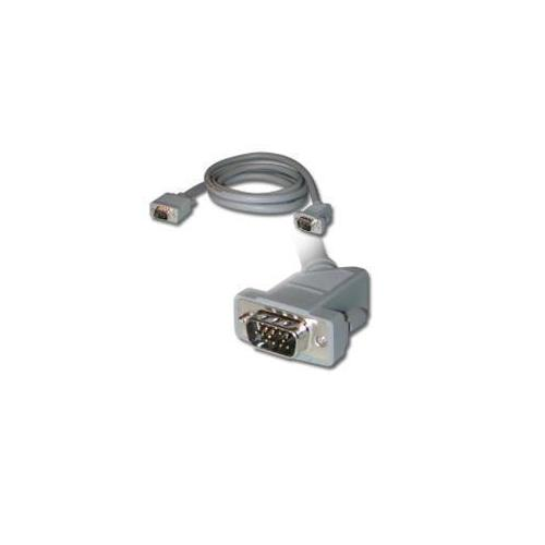 1FT PREMIUM SHIELDED HD15 SXGA M/M MONITOR CABLE WITH 45ANDDEG; ANGLED MALE CONN
