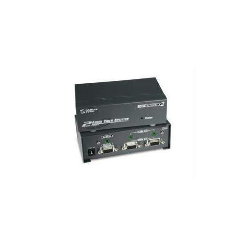 2-PORT UXGA MONITOR SPLITTER/EXTENDER WITH 3.5MM AUDIO (FEMALE INPUT)