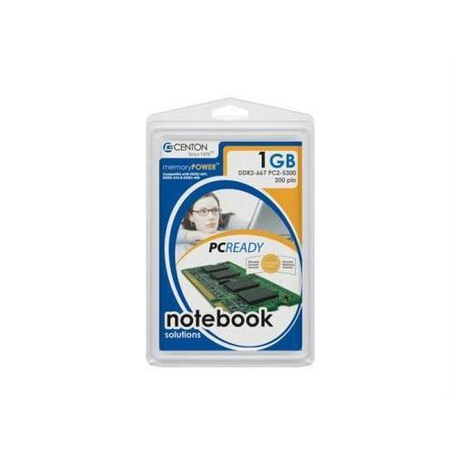 Centon Electronics Centon Pc2-5300 (667mhz) Ddr2 Sodimm Memory 1gb : 1gb667lt