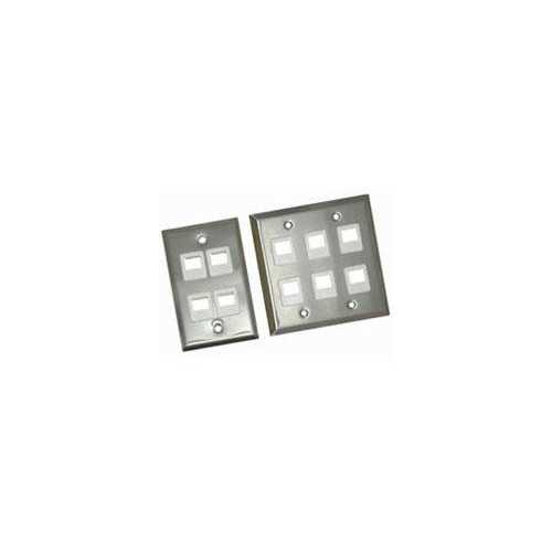 Legrand 2-port Single Gang Multimedia Keystone Wall Plate - Stainless Steel