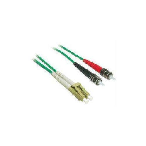 FIBER PATCH CABLE LC-ST DUPLEX MM 2M GRN