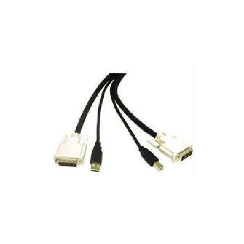 10FT DVIANDTRADE; DUAL LINK + USB 2.0 KVM CABLE