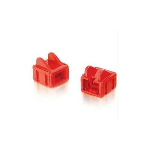 C2g Rj45 Patch Cord Boot - Red - 25pk