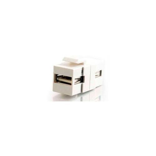 C2g Snap-in Usb A/a Female Keystone Insert Module - White (taa Compliant)