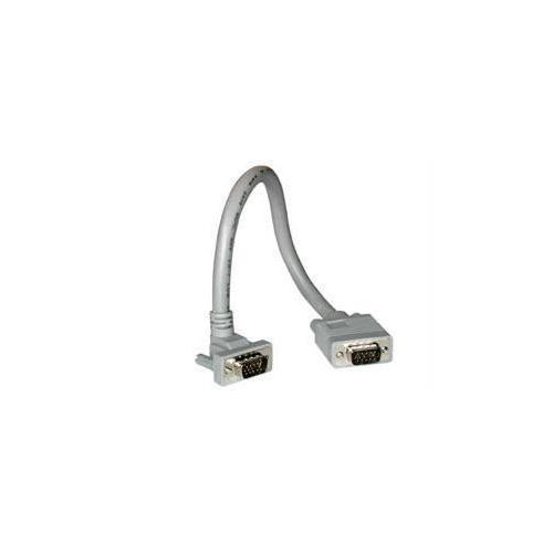 1FT PREMIUM SHIELDED HD15 SXGA M/M MONITOR CABLE WITH 90ANDDEG; UPWARD-ANGLED MA