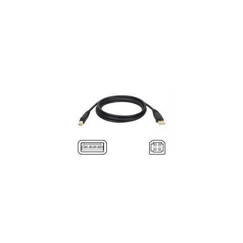 6FT USB 2.0 HI-SPEED A/B DEVICE CABLE SHIELDED MALE / MALE 6FEET