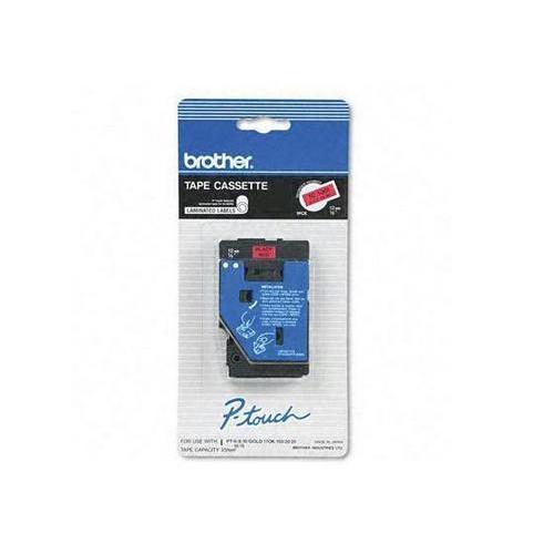 Brother International Corporat Brother Tc 5001 - Printer Tape - Black On Red - 25 Feet - Pt-6, 8, 10, 12, 12n,