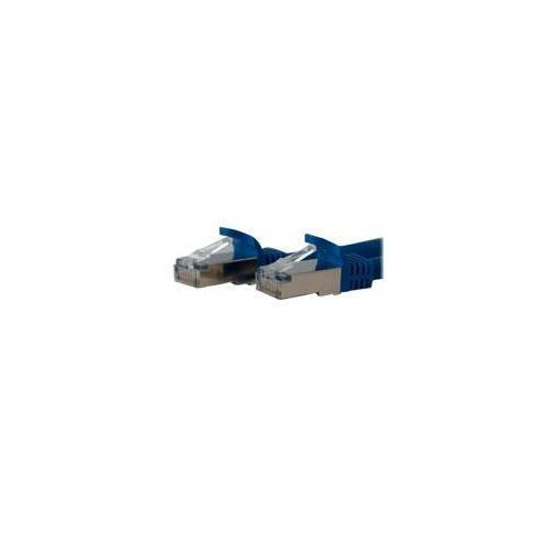1 FT BLUE SHIELDED CAT6A PATCH CABLE