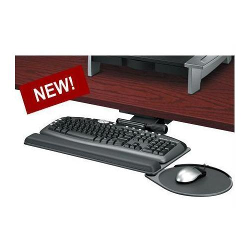 LETS YOU SLIDE MOUSE PLATFORM LEFT OR RIGHT OVER KEYBOARD NUMERIC PAD AND OFFERS