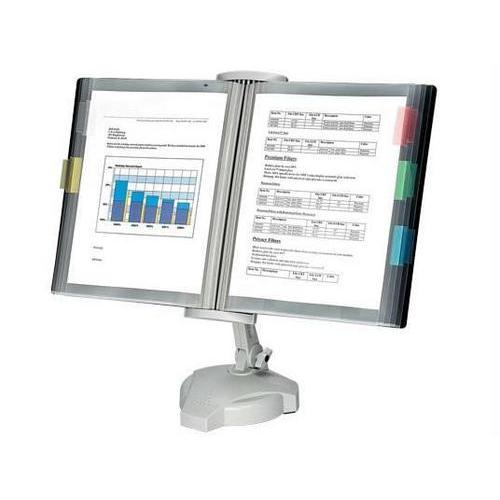 KEEPS REFERENCE MATERIALS ACCESSIBLE. FEATURES ADJUSTABLE VIEWING HEIGHT AND ANG